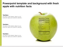 Powerpoint Template And Background With Fresh Apple With Nutrition Facts
