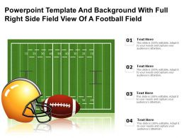 Powerpoint Template And Background With Full Right Side Field View Of A Football Field