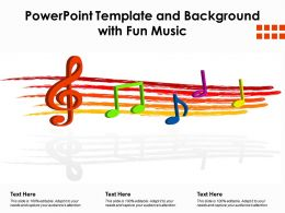 Powerpoint Template And Background With Fun Music