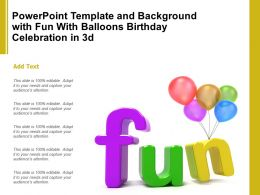 Powerpoint Template And Background With Fun With Balloons Birthday Celebration In 3d