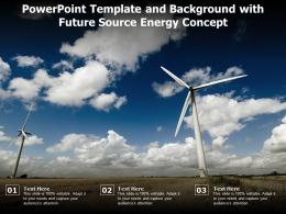 Powerpoint Template And Background With Future Source Energy Concept