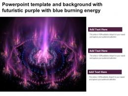 Powerpoint Template And Background With Futuristic Purple With Blue Burning Energy