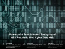 Powerpoint Template And Background With Futuristic Web Cyber Data Grid