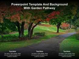 Powerpoint Template And Background With Garden Pathway