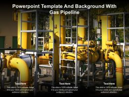 Powerpoint Template And Background With Gas Pipeline