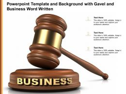 Powerpoint Template And Background With Gavel And Business Word Written