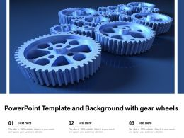 Powerpoint Template And Background With Gear Wheels