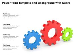Powerpoint Template And Background With Gears