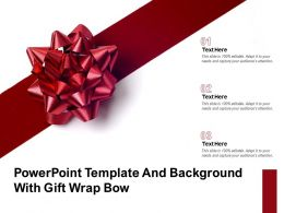 Powerpoint Template And Background With Gift Wrap Bow