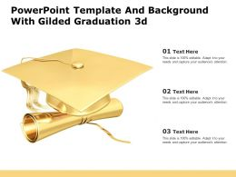 Powerpoint Template And Background With Gilded Graduation 3d