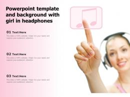 Powerpoint Template And Background With Girl In Headphones