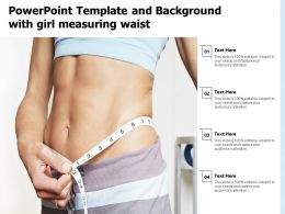 Powerpoint Template And Background With Girl Measuring Waist
