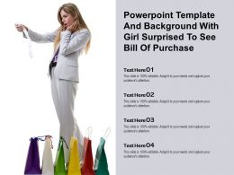 Powerpoint Template And Background With Girl Surprised To See Bill Of Purchase