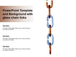 Powerpoint Template And Background With Glass Chain Links