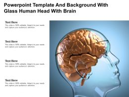 Powerpoint Template And Background With Glass Human Head With Brain