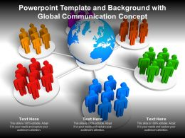 Powerpoint Template And Background With Global Communication Concept