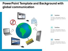 Powerpoint Template And Background With Global Communication