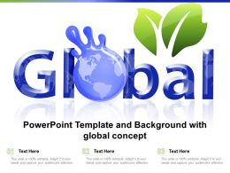 Powerpoint Template And Background With Global Concept