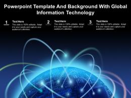 Powerpoint Template And Background With Global Information Technology
