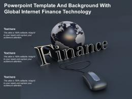 Powerpoint Template And Background With Global Internet Finance Technology