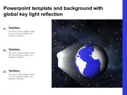 Powerpoint Template And Background With Global Key Light Reflection