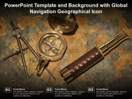 Powerpoint Template And Background With Global Navigation Geographical Icon