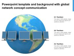Powerpoint Template And Background With Global Network Concept Communication