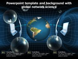 Powerpoint Template And Background With Global Network Science