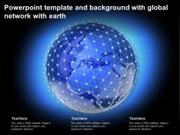 Powerpoint Template And Background With Global Network With Earth