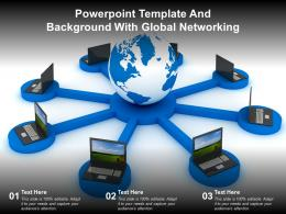 Powerpoint Template And Background With Global Networking