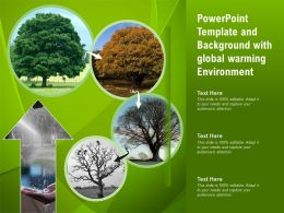 Powerpoint Template And Background With Global Warming Environment