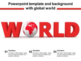 Powerpoint Template And Background With Global World