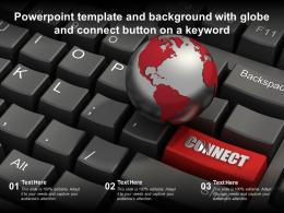 Powerpoint Template And Background With Globe And Connect Button On A Keyword