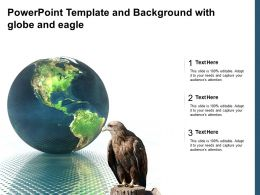 Powerpoint Template And Background With Globe And Eagle