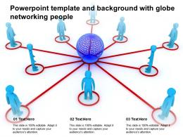 Powerpoint Template And Background With Globe Networking People