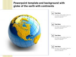 Powerpoint Template And Background With Globe Of The Earth With Continents