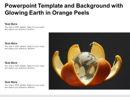 Powerpoint Template And Background With Glowing Earth In Orange Peels