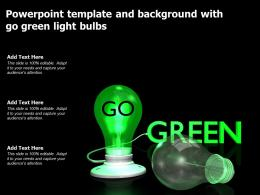 Powerpoint Template And Background With Go Green Light Bulbs