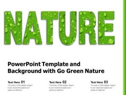 Powerpoint Template And Background With Go Green Nature