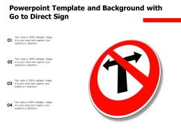 Powerpoint Template And Background With Go To Direct Sign