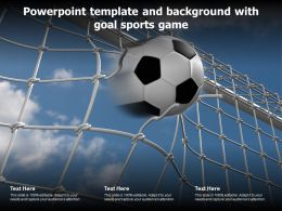 Powerpoint Template And Background With Goal Sports Game