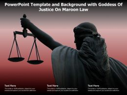 Powerpoint Template And Background With Goddess Of Justice On Maroon Law