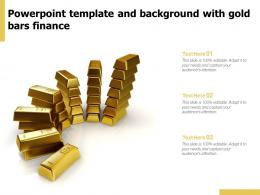Powerpoint Template And Background With Gold Bars Finance