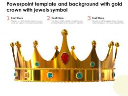 Powerpoint Template And Background With Gold Crown With Jewels Symbol