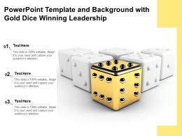 Powerpoint Template And Background With Gold Dice Winning Leadership
