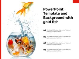 Powerpoint Template And Background With Gold Fish