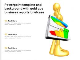 Powerpoint Template And Background With Gold Guy Business Reports Briefcase
