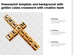 Powerpoint Template And Background With Golden Cubes Crossword With Creative Team