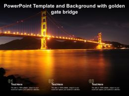 Powerpoint Template And Background With Golden Gate Bridge