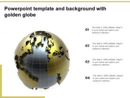 Powerpoint Template And Background With Golden Globe
